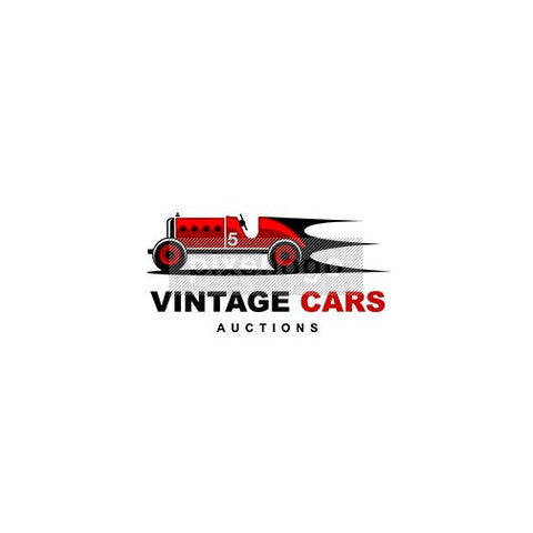 Vintage Auto Racing Logo - Old Red Racing Car | Logodive