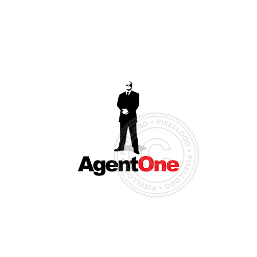 Bodyguard Logo - Personal guardian, man in black suit | Logodive