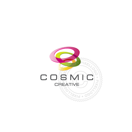 Cosmic Rings Logo Design-Logo Template-Pixellogo