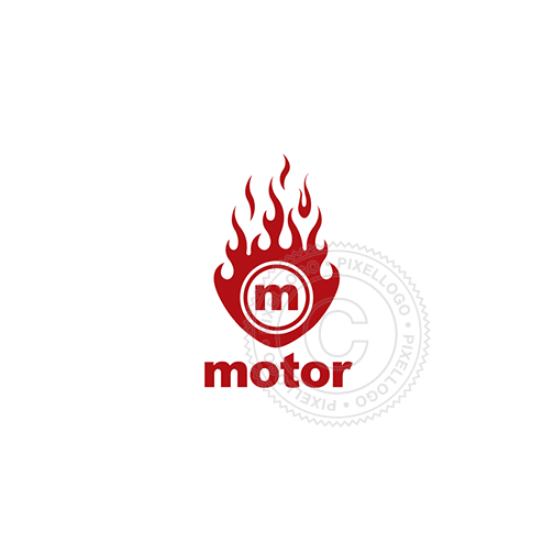 Hot Rod Fire Engine-Logo Template-Pixellogo