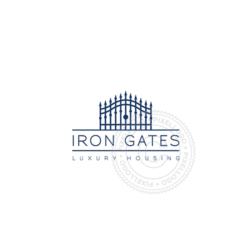 Iron Gates Real Estate-Logo Template-Pixellogo