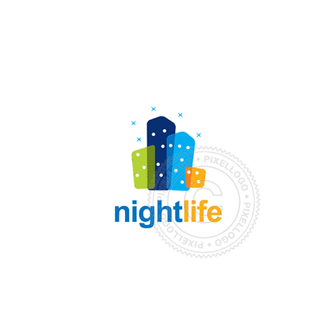 Downtown Night Life - Pixellogo