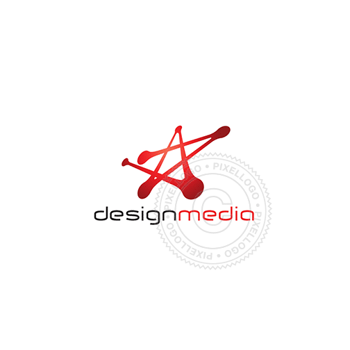 Atomic Star Logo Design - Pixellogo