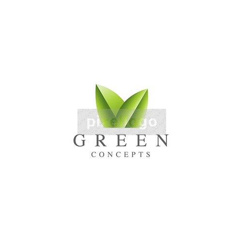 Botanical Plant Shop Logo - 2 green leaves | Logodive