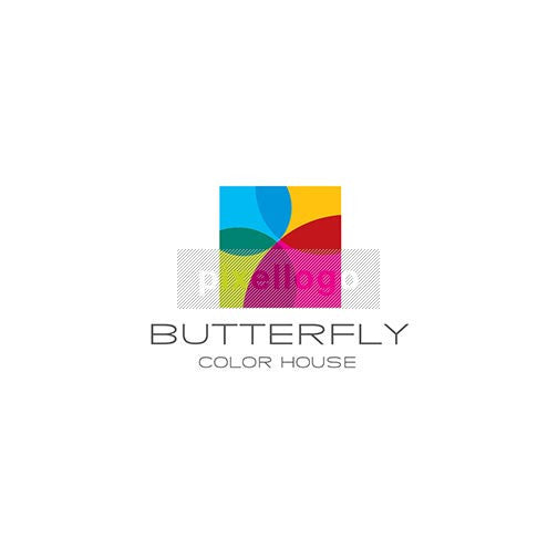 Paint Shop Butterfly Logo-1959 - pixellogo