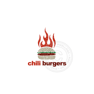 Chili Ham Burger Fast Food Restaurant - Pixellogo