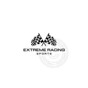 Chequered Flags - Pixellogo