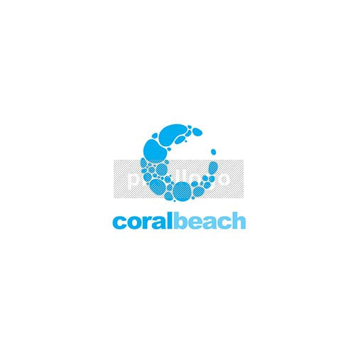 Pebbles logo - Coral beach logo by Pixellogo