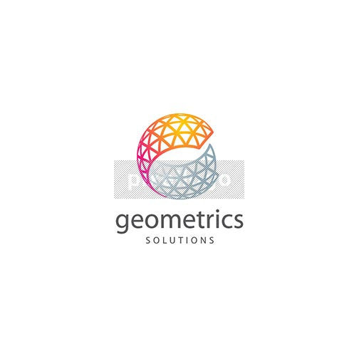 Triangular Lattice Sphere - Pixellogo