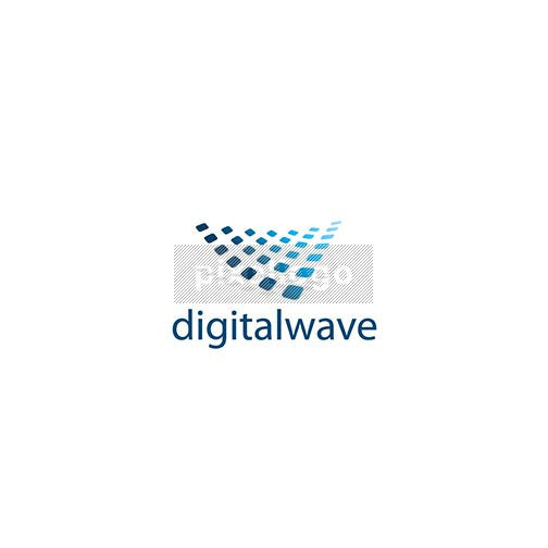 Digital Tech Wave - Pixellogo