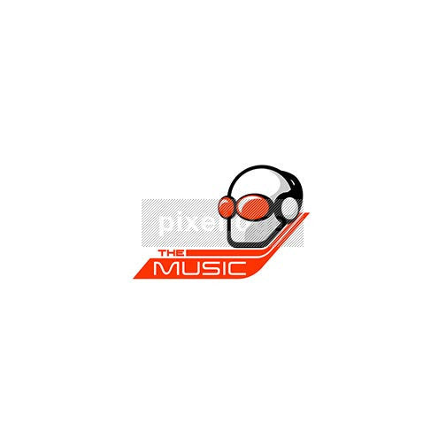 Deejay Logo - man in headphones | pixellogo