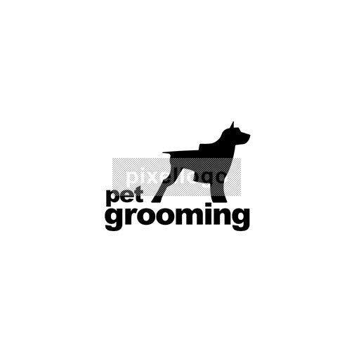 Pet Grooming Logo Template
