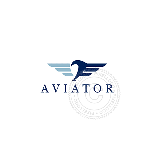 Flight School - Blue Winged Eagle - Pixellogo