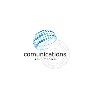 Digital Communication Systems-Logo Template-Pixellogo