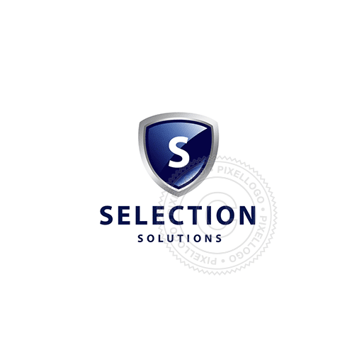 Blue Shield Secure Technology-Logo Template-Pixellogo