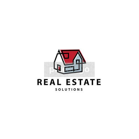 Real Estate - House Logo - pixellogo
