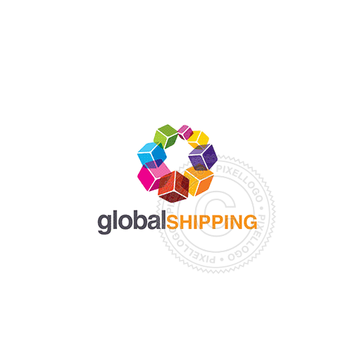 Box Shipping-Logo Template-Pixellogo