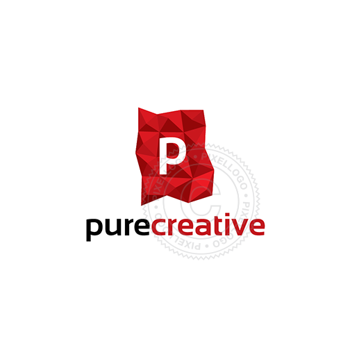 Red Flag creative Logo - pixellogo