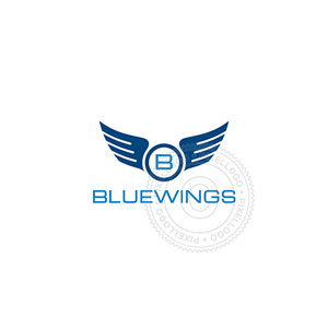 Blue Wings - Aviation-Logo Template-Pixellogo