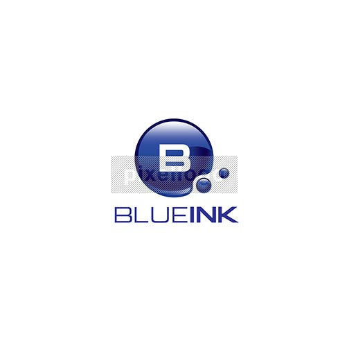Blue Ink Drop - Pixellogo