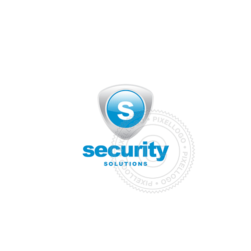 Blue Shield Security-Logo Template-Pixellogo