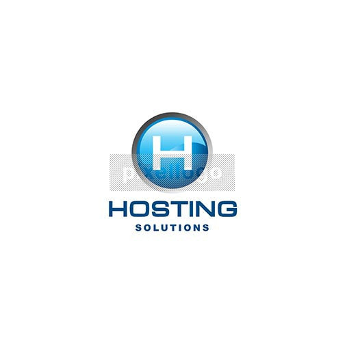 Blue Button Hosting - Pixellogo