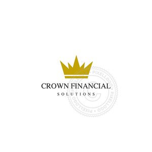 Gold Crown - Pixellogo