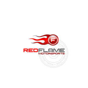 Red Flame Garage-Logo Template-Pixellogo