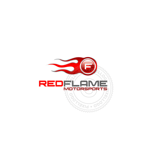 Red Flame Garage - Pixellogo