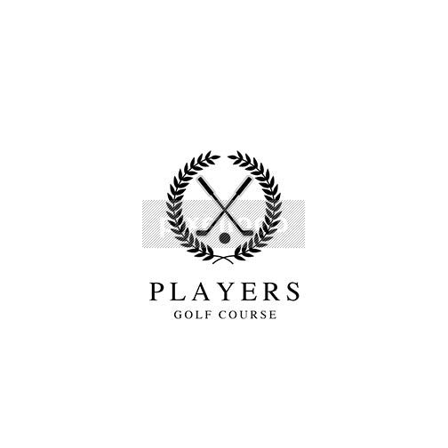 Golf Tournament Crest - Pixellogo