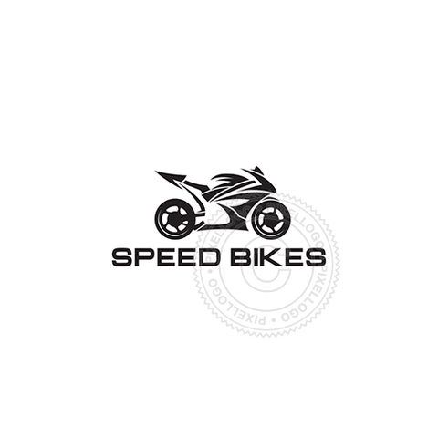 Speed Bike Shop-Logo Template-Pixellogo