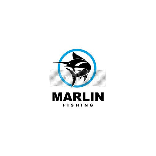 Sports Fishing - Marlin - pixellogo