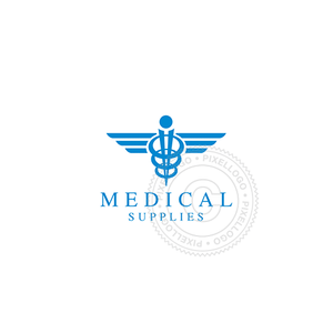Caduceus Icon-Logo Template-Pixellogo