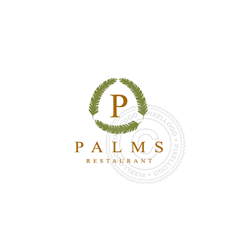 Green Palms-Logo Template-Pixellogo