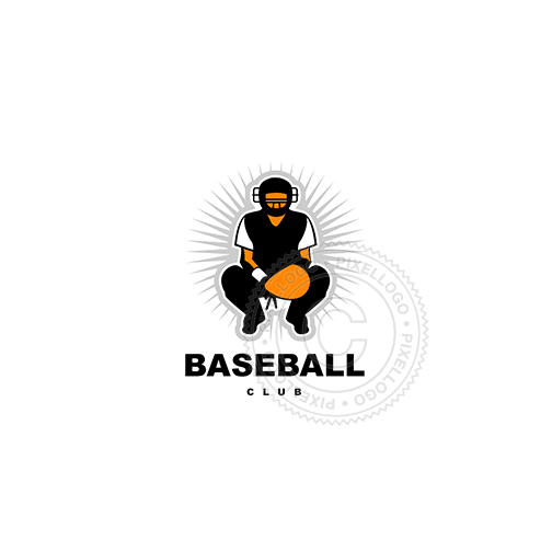Baseball Catcher-Logo Template-Pixellogo