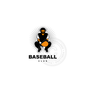 Baseball Catcher - Pixellogo