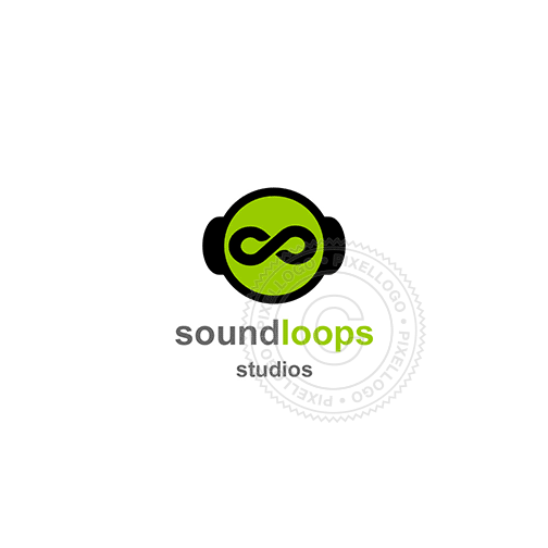 Audio loops-Logo Template-Pixellogo
