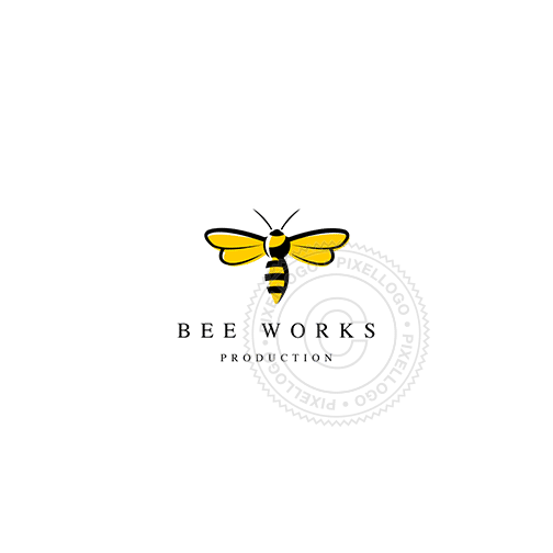 Yellow Bee-Logo Template-Pixellogo