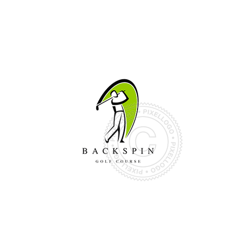 Backspin Golf - Pixellogo