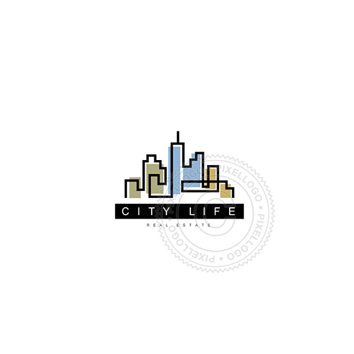 City Skyline - Pixellogo