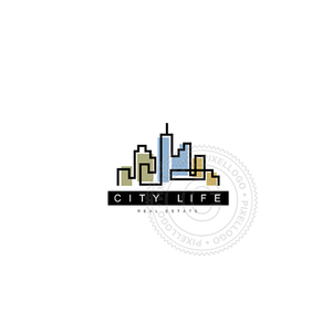 City Skyline-Logo Template-Pixellogo