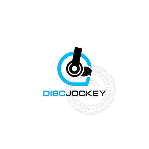 Disc Jockey - Pixellogo
