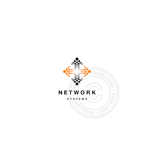 Network Solutions-Logo Template-Pixellogo