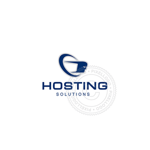 Hosting Solutions-Logo Template-Pixellogo