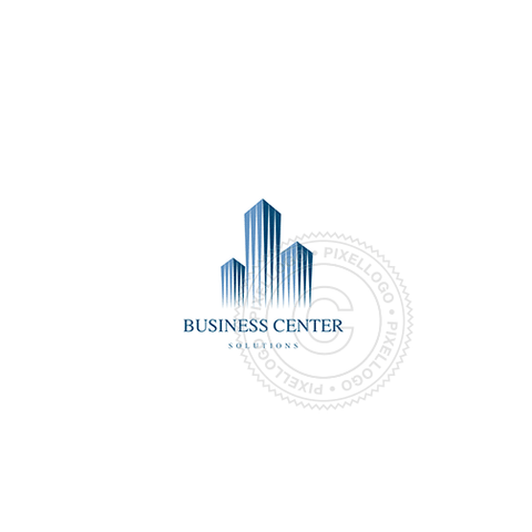 Business Center-Logo Template-Pixellogo