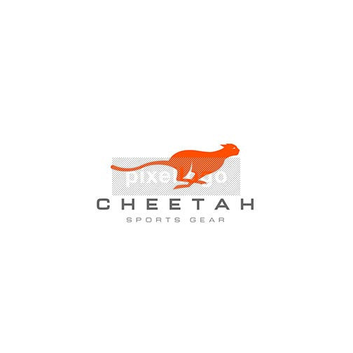 Running Cheetah - Pixellogo