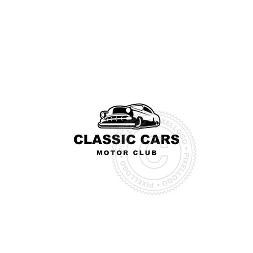 Classic Car Dealer-Logo Template-Pixellogo