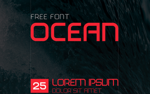 Ocean Display Free Font