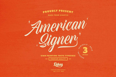 American Signer Free font
