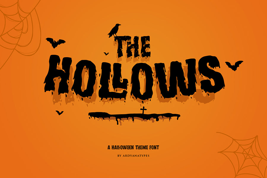 Hollows Free font - Pixellogo